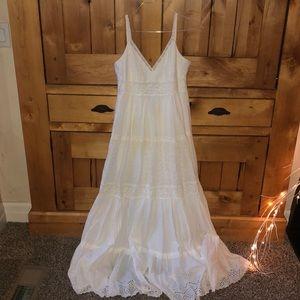Woman's Long White Dress